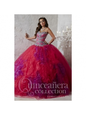Discount Unique Multi-color Quinceanera Dresses with Beading and Ruffles for 2015 HOFW008