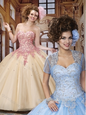 Discount 2015 Elegant Ball Gown Quinceanera Dresses with Beading and Appliques MRYS021