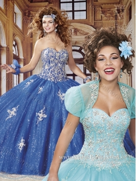 Discount 2015 Elegant Sweetheart Quinceanera Dresses with Sequins and Appliques MRYS015