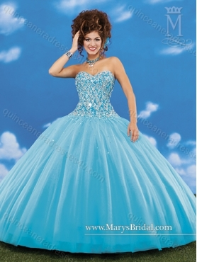 Discount 2015 Perfect Sweetheart Baby Blue Quinceanera Dresses with Beading MRYS040