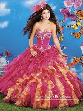 Discount Discount Beading and Ruffles Sweetheart 2015 Quinceanera Dresses MRYS032