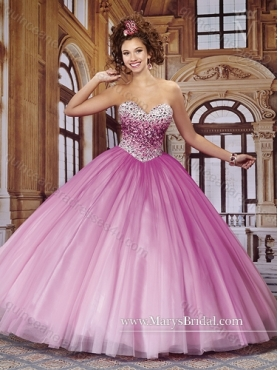 Discount Exclusive 2015 Beading Sweetheart Tulle Quinceanera Dresses  MRYS009