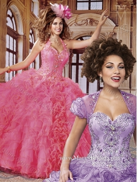 Discount Fashionable Halter Top Quinceanera Dresses with Beading and Ruffles MRYS016