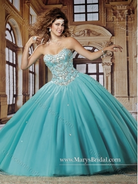 Discount Luxurious 2015 Ball Gown Quinceanera Dresses with Beading MRYS019