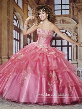 Discount Perfect Sweetheart 2015 Quinceanera Gown with Appliques MRYS008