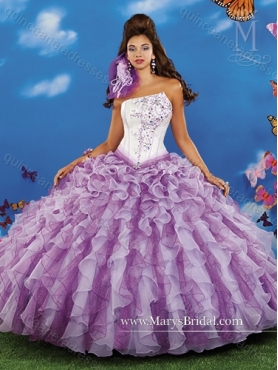 Discount Pretty Beading and Ruffles Asymmetrical Quinceanera Dresses in Multi Color MRYS026