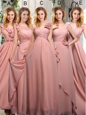 Discount 2015 Empire Ruching  Sturning Dama Dresses in PeachBMT013