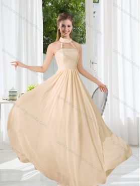 Discount 2015 Halter Empire  Classical Dama Dress with Lace  BMT016E
