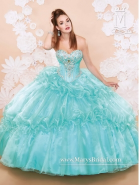 Discount Baby Blue 2016 Quinceanera Dresses with Beading and Ruffles MRSY010