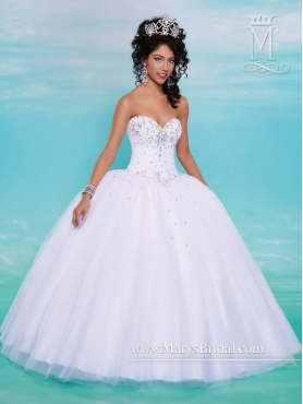 Discount Best Selling Beaded Sweetheart Quinceanera Dresses in White MRSY023