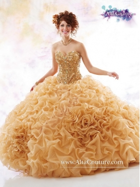 Discount Gorgeous Beaded Quinceanera Dresses with Chapel Train MRSY057