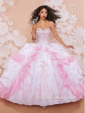 Discount Hot Sale Beaded 2016 Quinceanera Dresses with Appliques and Ruffles MRSY012