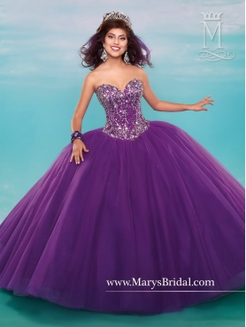 Discount Inexpensive Purple 2016 Quinceanera Dresses with Beading MRSY032