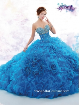 Discount Luxurious Brush Train Beaded 2016 Sweet 16 Dresses MRSY054