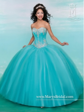 Discount New Arrivals Sweetheart Aqua Blue Quinceanera Gowns with Beading MRSY027
