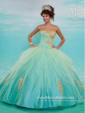 Discount Perfect Sweetheart Quinceanera Gowns with Beading and Appliques MRSY030