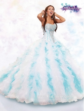 Discount Popular Strapless Brush Train Sweet 16 Gowns in Multi Color for 2016 MRSY058