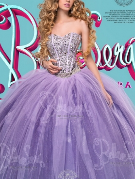 Discount Affordable Sweetheart Tulle Lavender Sweet Sixteen Dress with Beading