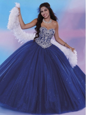 Discount Discount Big Puffy Royal Blue Sweet 16 Dress with Beading and Sequins MSRY031