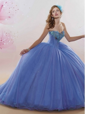 Discount Exquisite Rhinestoned and Butterflied Quinceanera Dress with Court Train MSRY014