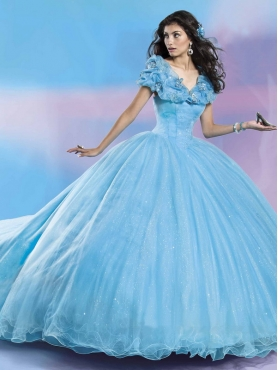 Discount Fashionable Butterfly Decorated Off the Shoulder Cap Sleeves Quinceanera Dress with Sequins MSRY038