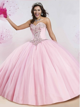 Discount New Arrivals Beaded Really Puffy Quinceanera Dress in Baby Pink MSRY006