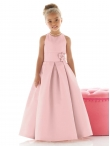 Discount Unique Fashions Radiant  Pink A line scoop floor length Flower Girl Dress FL4022