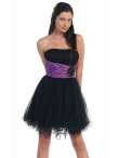 Discount Short Strapless Tulle Party Dress Style DQ-8011