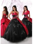 Discount 2012 Beautiful Ball gown Strapless Floor-length Quinceanera Dresses Style 80096