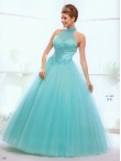 Discount 2012 Elegant Ball gown High-neck Floor-length Quinceanera Dresses Style AFLS666