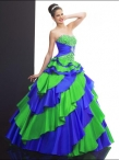 Discount 2012 Lovely ball gown sweetheart-neck floor-length quinceanera dresses Q501