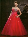 Discount Wholesale Popular Ball gown Strapless Floor-length Quinceanera Dresses Style AFJJ713