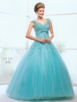 Discount 2012 Remarkable Ball gown V- neck Floor-length Quinceanera Dresses Style AFFY278