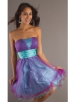 Discount Short Strapless Party Dress PO-6098