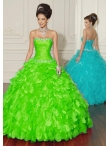 Discount Wholesale New style ball gown sweetheart-neck floor-length quinceanera dresses 88015