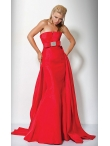 Discount Strapless Jovani Dress with Empire Waist Bow JO-71436