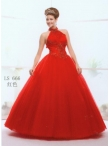 Discount Wholesale Elegant Ball gown High-neck Floor-length Quinceanera Dresses Style AFLS666