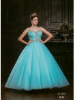 Discount 2012 Latest Ball gown Strap Floor-length Quinceanera Dresses Style AFLS653