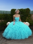 Discount 2012 Wonderful Blue Ball gown Strapless Floor-length Quinceanera Dresses Style J6214