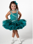 Discount Wholesale Cute Ball gown Square Short Flower Girl Dresses Style UF1023