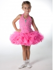 Discount Wholesale Exquisite Ball gown Halter Short Flower Girl Dresses Style UF1067