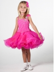 Discount Wholesale Lovely Ball gown Scoop Short Flower Girl Dresses Style UF1057