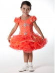 Discount Wholesale Pretty Ball gown Off the shoulder Short Flower Girl Dresses Style UF1056