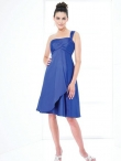 Discount One Shoulder Neck Knee-length Bridesmaid Dresses Style MT9025