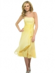 Discount Strapless Knee-length Bridesmaid Dresses Style MT9024