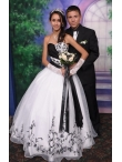 images/v/20130328/white-and-black-sweetheart-appliques-wedding-dress-4.jpg
