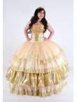 Discount 2014 Gorgeous Sweetheart Appliques Multi-color Quinceanera Dresses QUML015