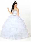 Discount 2014 Popular Beading Quinceanera Gowns in White KSCT055