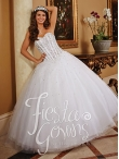 Discount 2014 The Most Popular White Sweet 15 Dress with Beading HOWF017