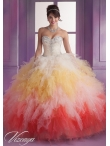 Discount Custom Made Appliques and Ruffles Multi-color Dress For Quinceanera MLER078